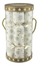 Glitter Snow Sky Crackers  - Drum Gift Box